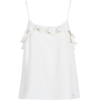 material Women Tops / Sleeveless T-shirts Les Petites Bombes AZITAFE White