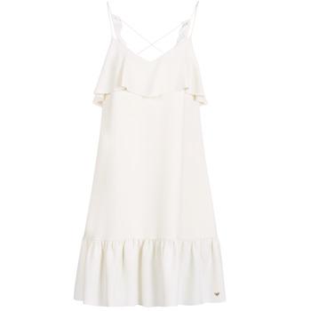 material Women Short Dresses Les Petites Bombes AZITARBE White