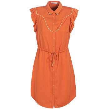 material Women Short Dresses LPB Woman AZITARTE Coral