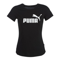 material Women short-sleeved t-shirts Puma PERMA ESS TEE Black