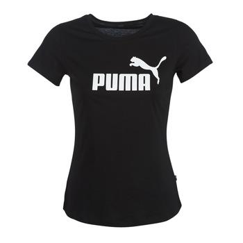 material Women short-sleeved t-shirts Puma PERMA ESS TEE Black