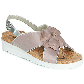 Shoes Women Sandals Romika HOLLYWOOD 08 Pink / Silver