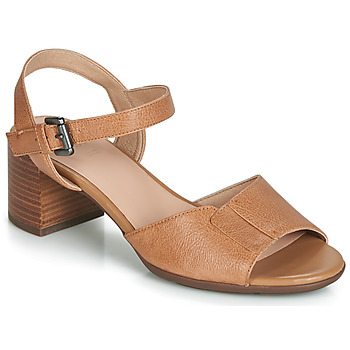 Shoes Women Sandals Geox D MARYKARMEN MID SAN Camel