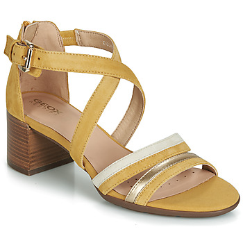 Shoes Women Sandals Geox D MARYKARMEN MID SAN Yellow