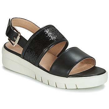 Shoes Women Sandals Geox D WIMBLEY SANDAL Black