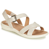 Shoes Women Sandals Geox D SANDAL VEGA White