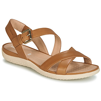 Shoes Women Sandals Geox D SANDAL VEGA Camel