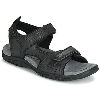 Shoes Men Sports sandals Geox UOMO SANDAL STRADA Black