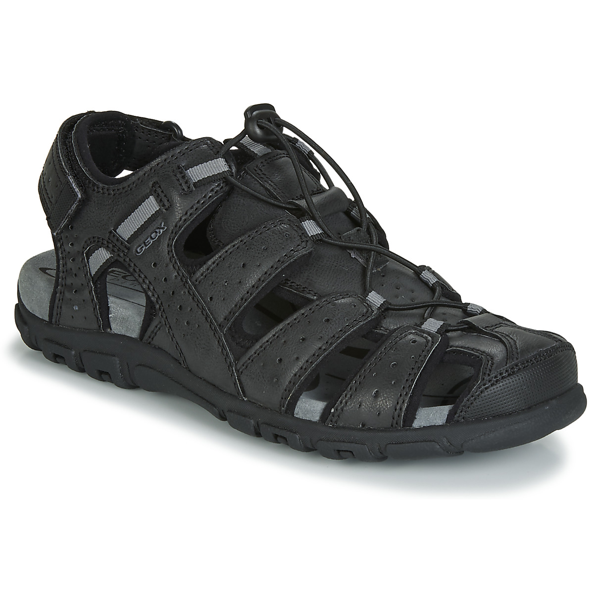 Abandonar Camello Federal  Geox UOMO SANDAL STRADA Black - Fast delivery | Spartoo Europe ! - Shoes  Sandals Men 80,00 €