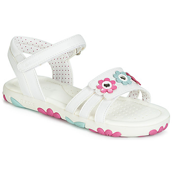 Shoes Girl Sandals Geox J SANDAL HAITI GIRL White