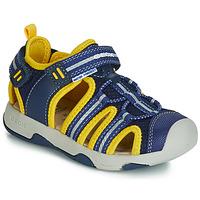 Shoes Boy Sandals Geox B SANDAL MULTY BOY Blue / Yellow