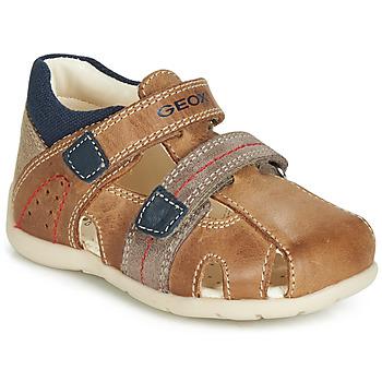 Shoes Boy Sandals Geox B KAYTAN Brown