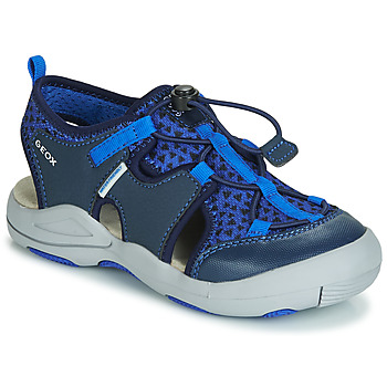 Shoes Boy Sports sandals Geox JR SANDAL KYLE Blue