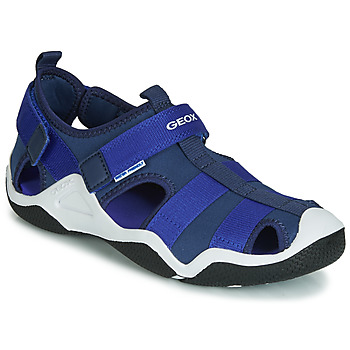 Shoes Boy Sports sandals Geox JR WADER Marine / Blue