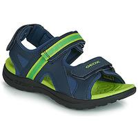 Shoes Boy Sports sandals Geox J GLEEFUL BOY Blue / Yellow
