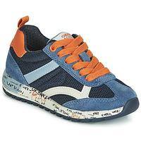 Shoes Boy Low top trainers Geox J ALBEN BOY Marine / Orange