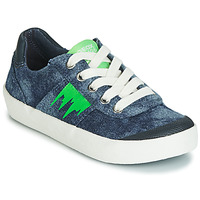 Shoes Boy Low top trainers Geox J KILWI BOY Blue / Green