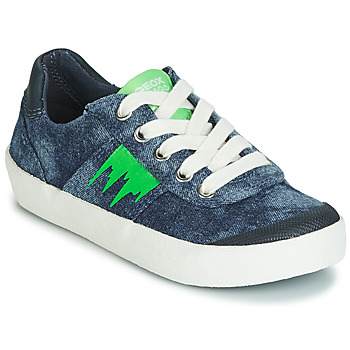 Shoes Boy Low top trainers Geox J KILWI BOY Blue / Green