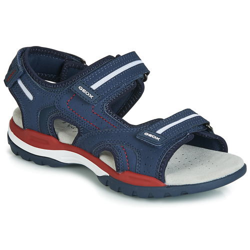 Shoes Boy Sports sandals Geox J BOREALIS BOY Marine / Red
