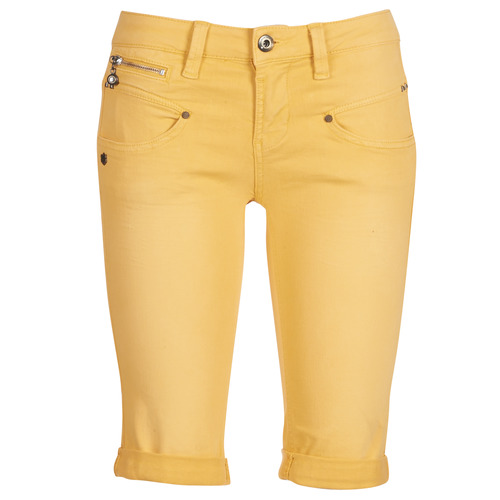 material Women Shorts / Bermudas Freeman T.Porter Belixa New Magic Color Yellow