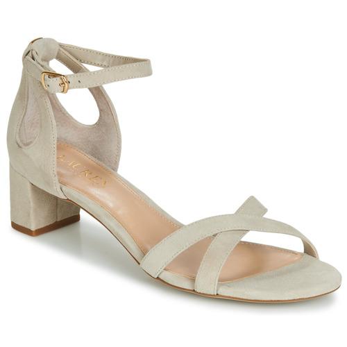 Shoes Women Sandals Lauren Ralph Lauren FOLLY Beige