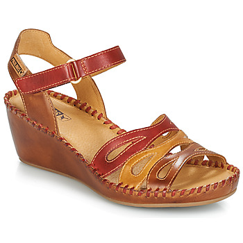 Shoes Women Sandals Pikolinos MARGARITA 943 Red / Brown