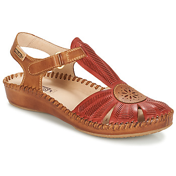 Shoes Women Sandals Pikolinos P. VALLARTA 655 Camel / Red