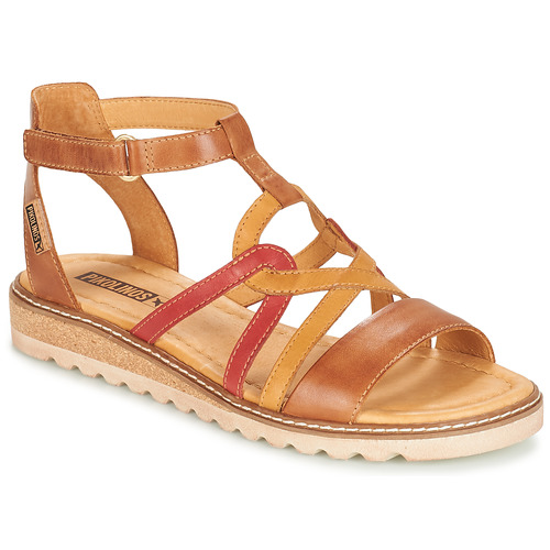 Shoes Women Sandals Pikolinos ALCUDIA W1L Camel / Yellow