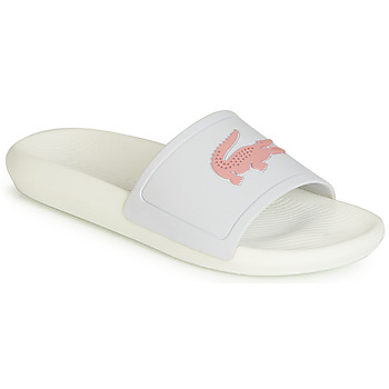 Shoes Women Tap-dancing Lacoste CROCO SLIDE 119 3 White / Pink