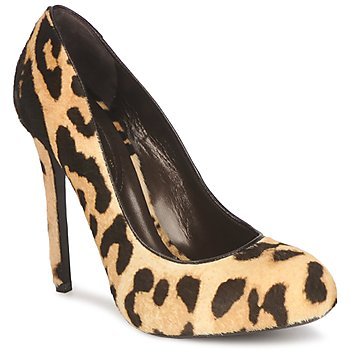 Shoes Women Court shoes Roberto Cavalli QPS565-ZW031 Beige / Brown