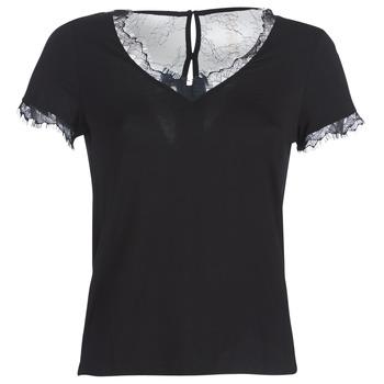 material Women short-sleeved t-shirts Morgan DMINOL Black