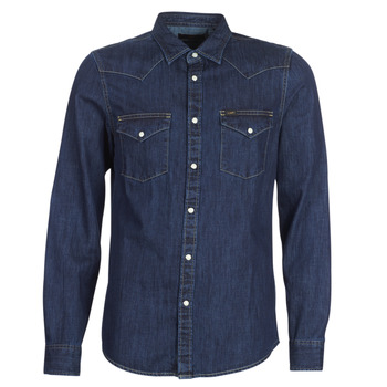 material Men long-sleeved shirts Lee LEE WESTERN SHIRT Blue / Raw