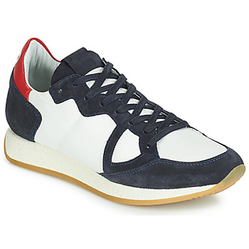 Shoes Women Low top trainers Philippe Model Paris MONACO VINTAGE BASIC White / Marine