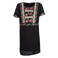 material Women Short Dresses Desigual TRALEE Black