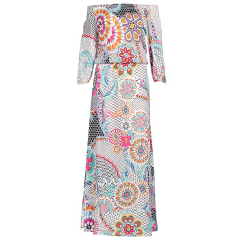 material Women Long Dresses Desigual DERA Multicoloured