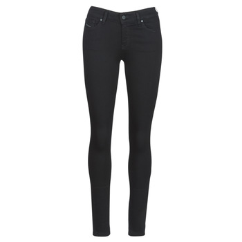 material Women slim jeans Diesel SLANDY Black