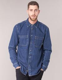 material Men long-sleeved shirts Diesel D FRED Blue