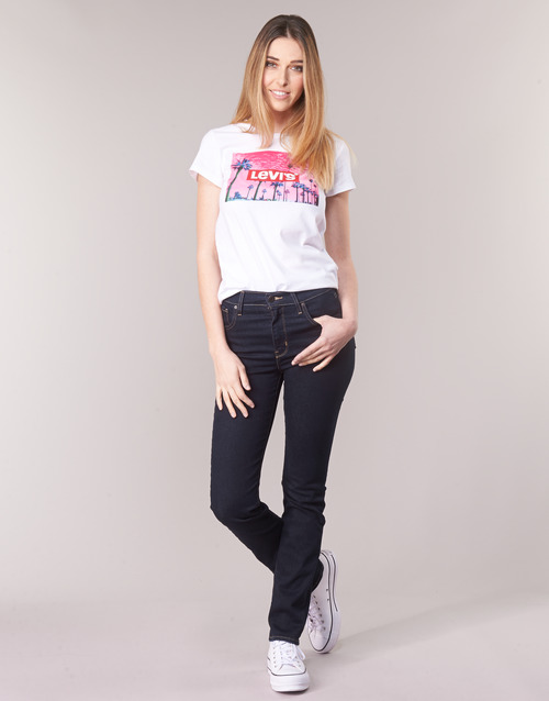 material Women straight jeans Levi's 724 HIGH RISE STRAIGHT To / Tea / Nine