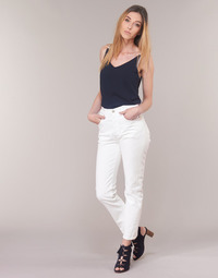 material Women straight jeans Levi's 501 CROP In / Tea / Clouds