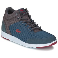 Shoes Men High top trainers Lacoste TARRU LIGHT PUT Grey / BORDEAUX
