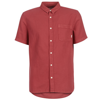 material Men short-sleeved shirts Quiksilver TIMEBOX Red
