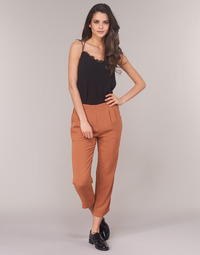 material Women Wide leg / Harem trousers See U Soon GARAGACI Ocre tan