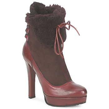 Shoes Women Ankle boots Sebastian ELIATY BORDEAUX