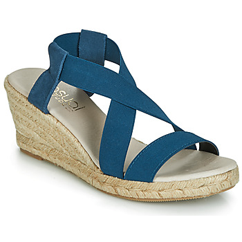 Shoes Women Sandals Casual Attitude JALAYEBE Blue