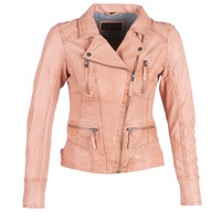 material Women Leather jackets / Imitation leather Oakwood CAMERA Peach