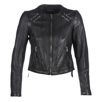 material Women Leather jackets / Imitation leather Oakwood FLEX Black