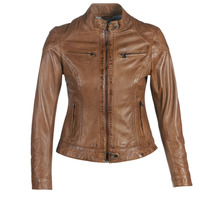 material Women Leather jackets / Imitation leather Oakwood LINA Cognac
