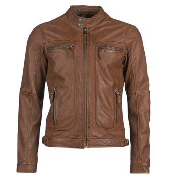 material Men Leather jackets / Imitation leather Oakwood CASEY Cognac