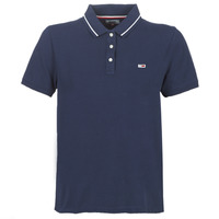 material Women short-sleeved polo shirts Tommy Jeans TJW TOMMY CLASSICS POLO Marine