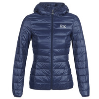material Women Duffel coats Emporio Armani EA7 TRAIN CORE LADY LT DOWN JACKET Marine